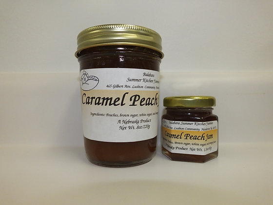 Caramel Peach Jam - 1.5oz.