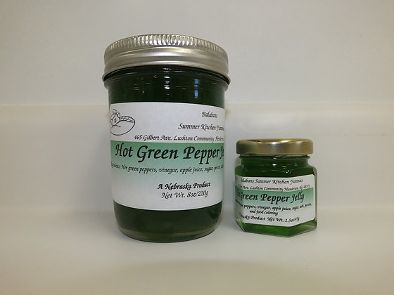 Hot Green Pepper Jelly - 1.5oz