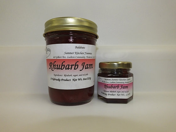 Rhubarb Jam - 8oz.