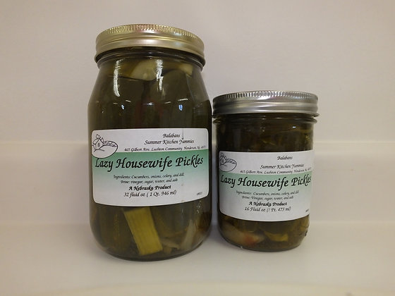 Lazy Housewife Pickles - Spears - Quart