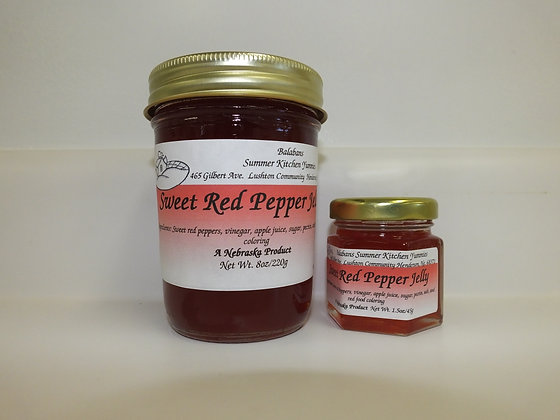 Sweet Red Pepper Jelly - 8oz.