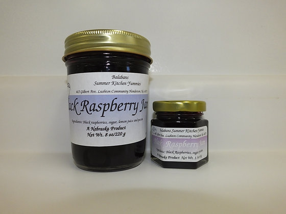 Black Raspberry Jam - 8oz.