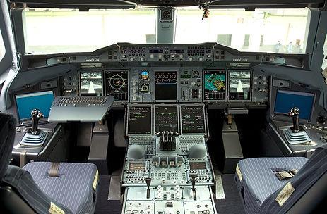 Cockpit A380 Flugfunk