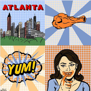 Atlanta Pop Art - Digital Drawing