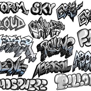 Graffiti Letterings - Digital Drawing