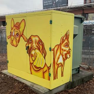 Matress Factory Lofts - Dog Park Electrical Box