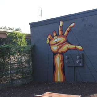 Puppet Hand Mural - Atlanta GA