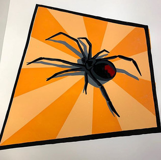 Black Widdow - Silk Screen Print