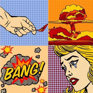 Bomb Pop Art - Digital Drawing