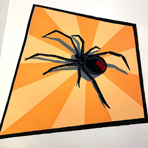Black Widow - Silk Screen Print