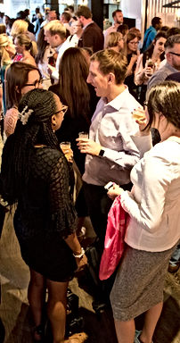 Professionals networking and socialising