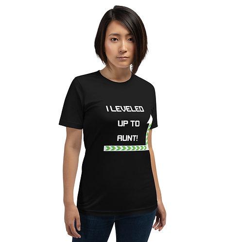 I Leveled Up to Aunt Short-Sleeve Unisex T-Shirt