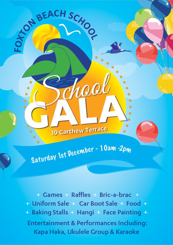 Foxton Beach School Gala Poster_A4