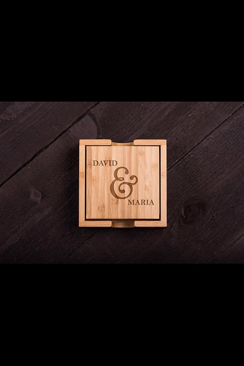 Custom Engraved Bamboo Coasters (4)