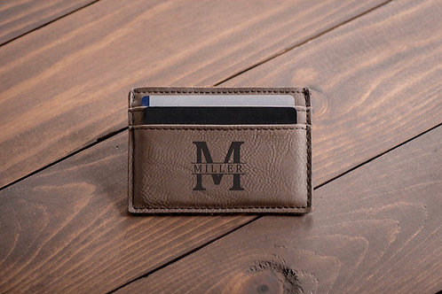 Custom Engraved Credit Card Holder