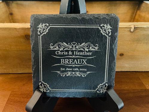 Custom Slate Coaster Set (4)