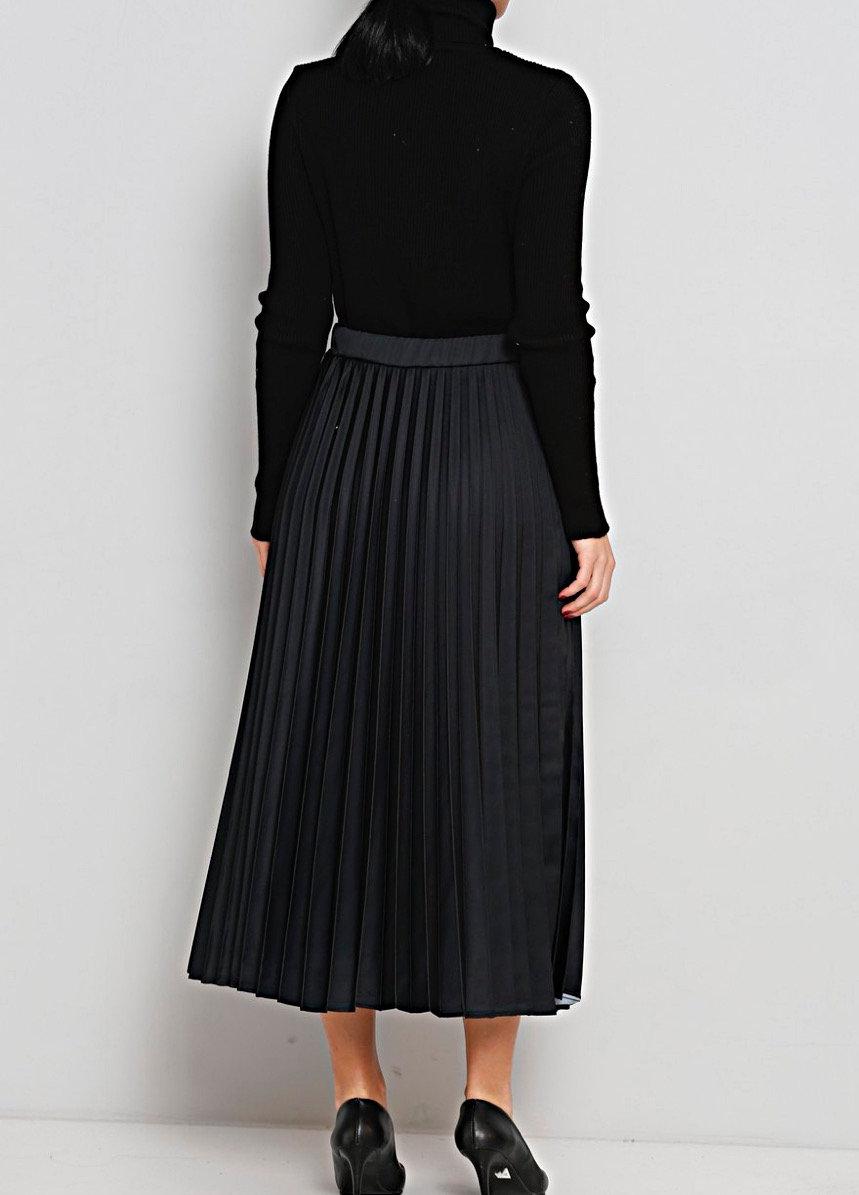 525452f9db6456 Jupe longue plissée noire