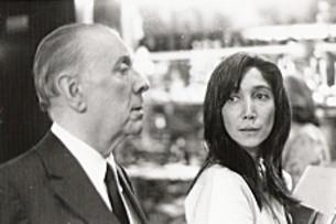 Jorge Luis Borges y María Kodama en Ginebra