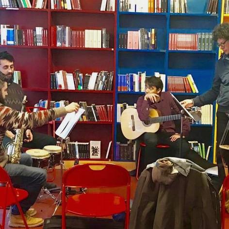 Concierto en la librería Albatros, Ginebra