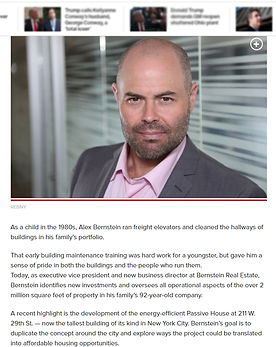 Real Estate MVP and leader Alex Bernstei