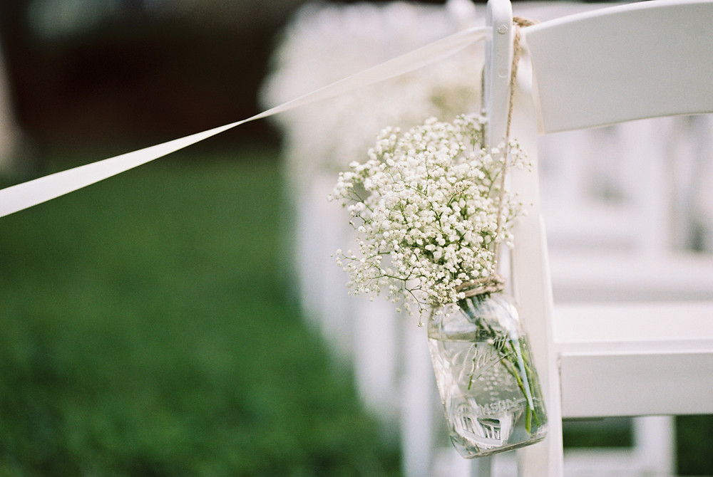 Gypsophila chair decorations