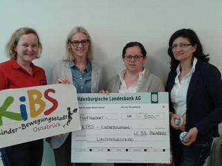 Spende an die Kinder-Bewegungsstadt Osnabrück (KiBS)
