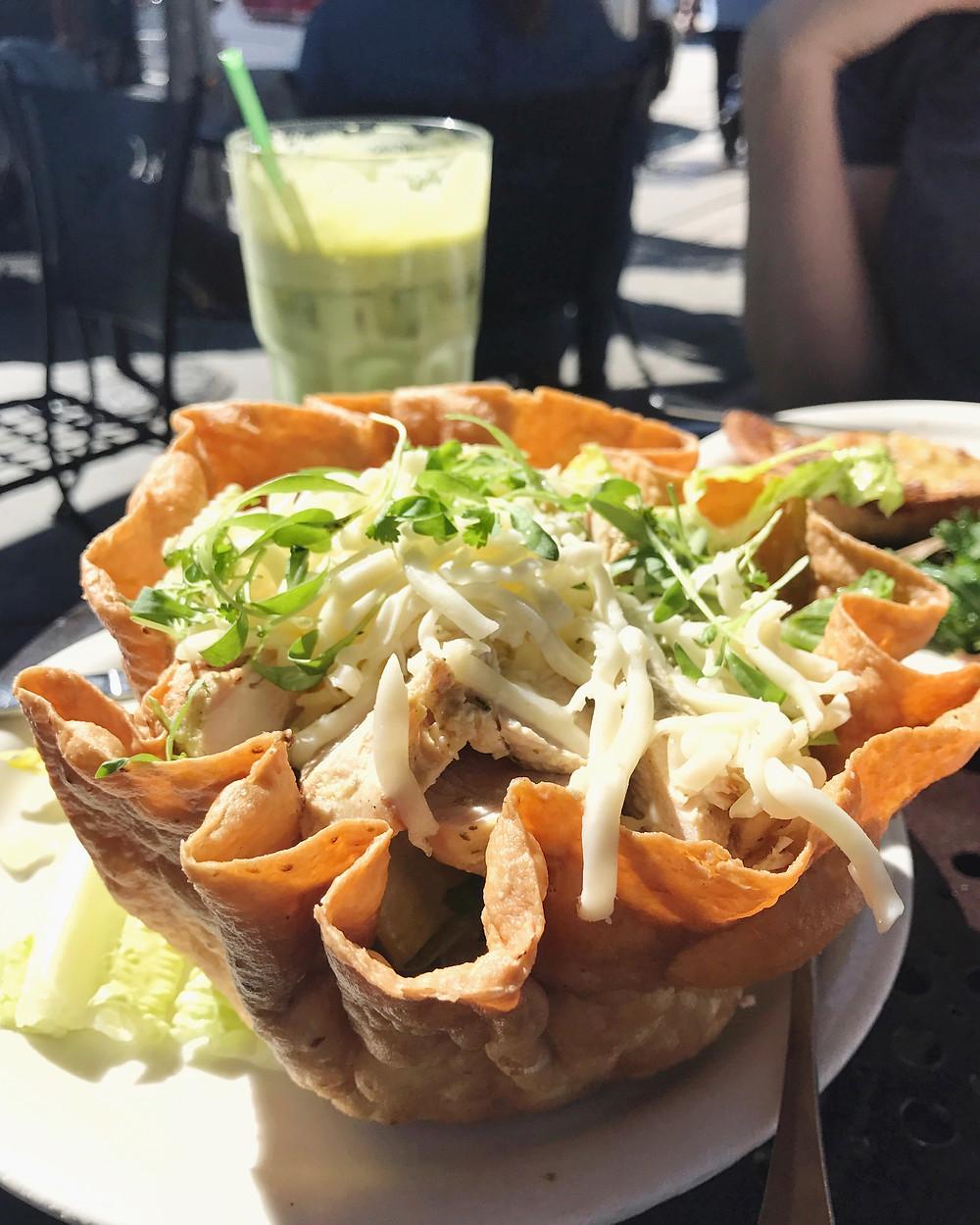 The Tostada Salad - Urth Caffe