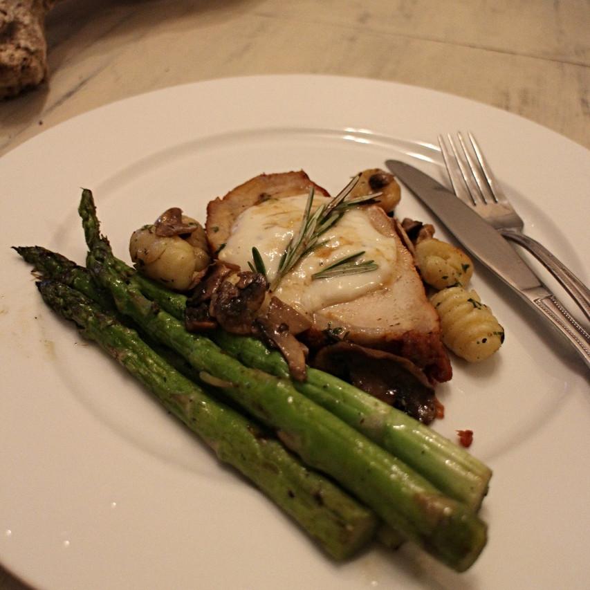 Seared Pork Chop Alla Forcettina