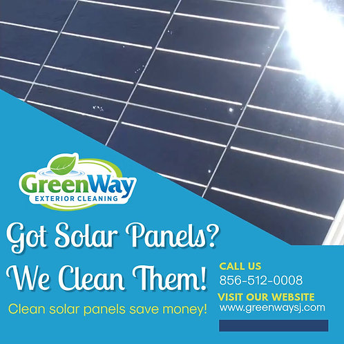 Solar panel cleaning video