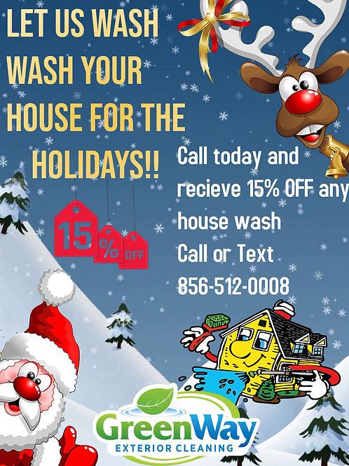 Santa house wash