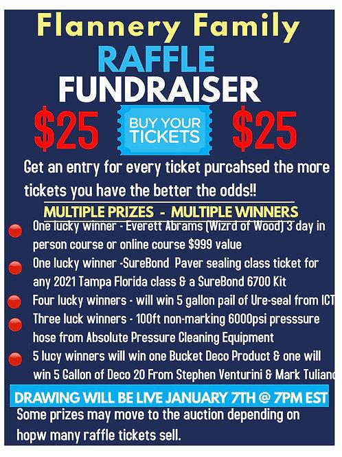Flannery fundraiser raffle ticket