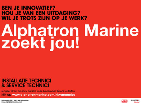 Wervingscampagne | Recruitment campaign Alphatron Marine