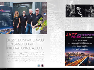 Nathalie Lans in article about Jazzpodium Waterweg in December-issue of 'Ondernemend'