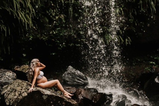 Waterfall pregnancy session