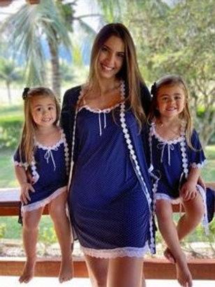 Camisola com robe infantil de liganete