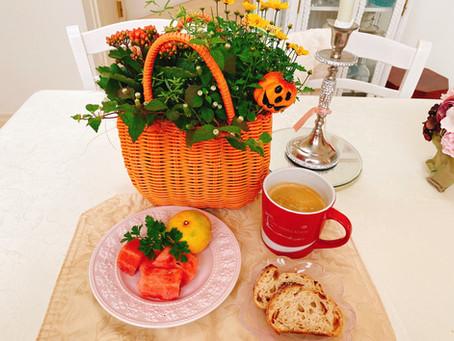 ハロウィンな朝食