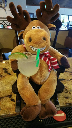 Henry drinking a delicious margarita