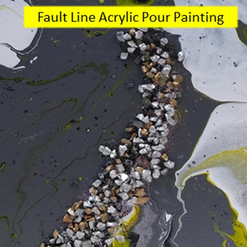 Acrylic Pouring Painting 3D Fault Line Design