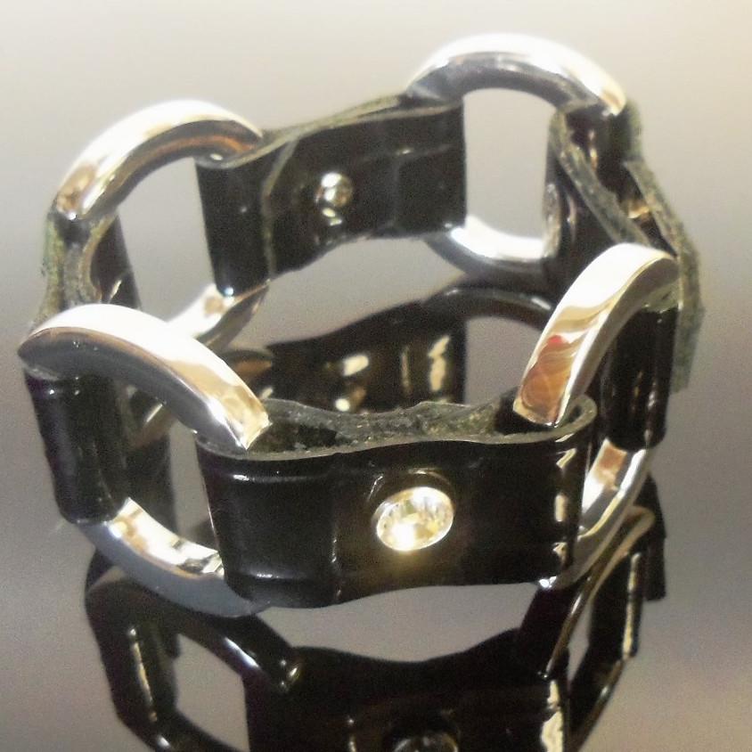 Leather Station Bracelet