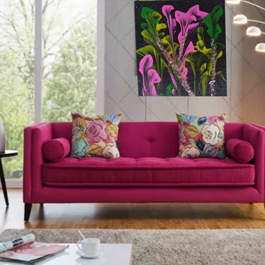 """Acrylic Pour Painting """"Floral"""" - Tinley Park Park District"""