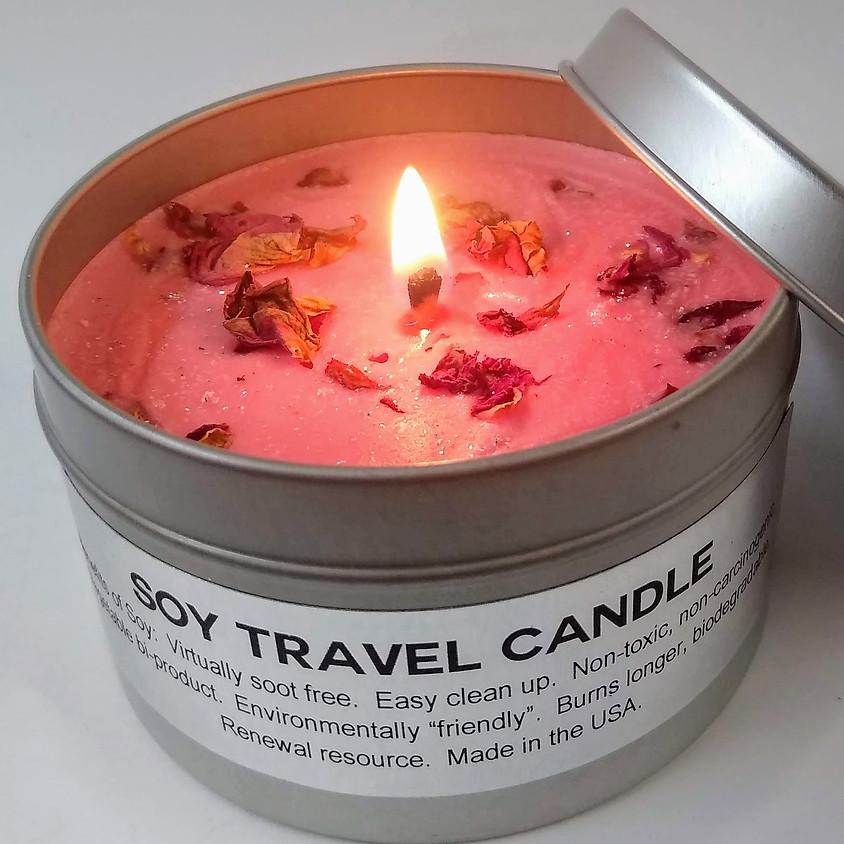 Making Botanical Soy Candles