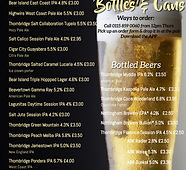 Bottles  cans menu - Made with PosterMyW