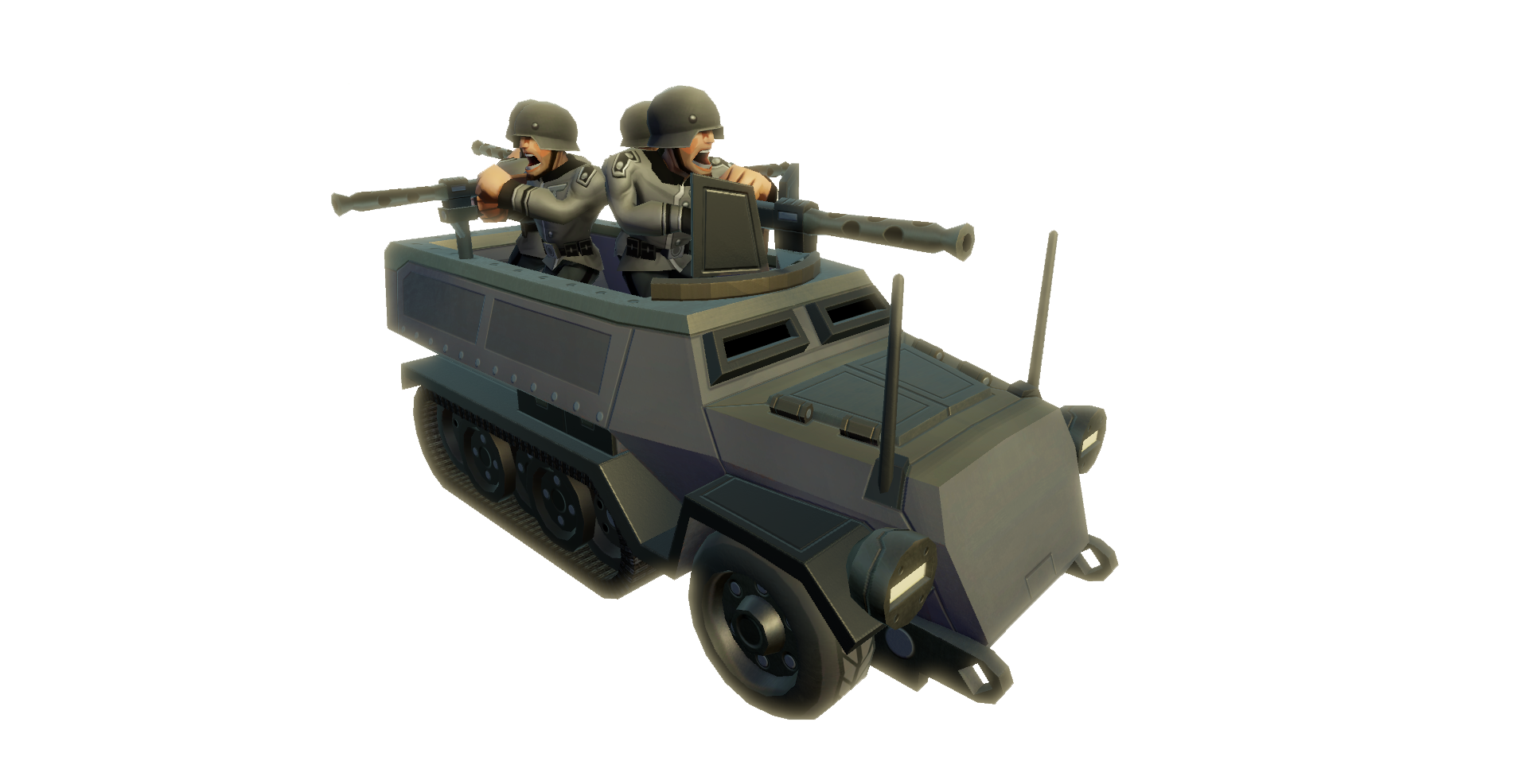 GER Halftrack Machinegun
