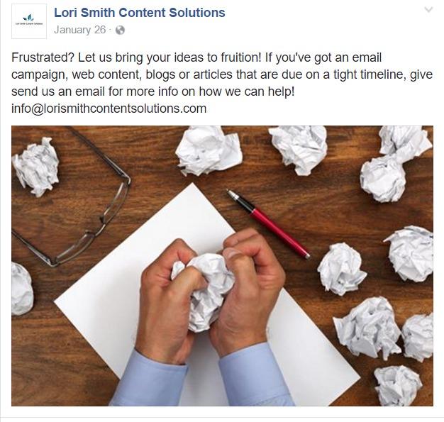 lori smith content solutions social media sample 2