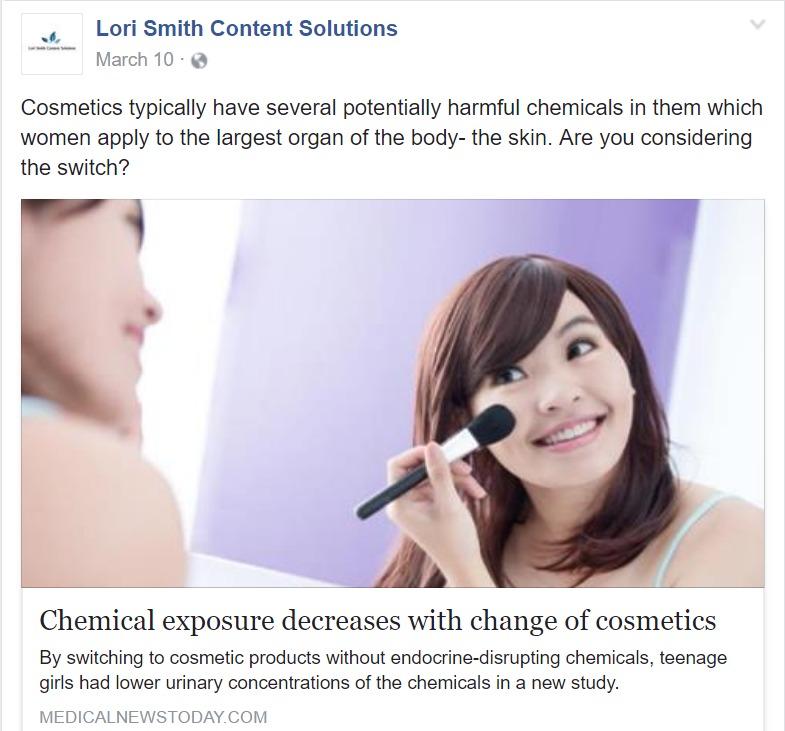 lori smith content solutions social media sample
