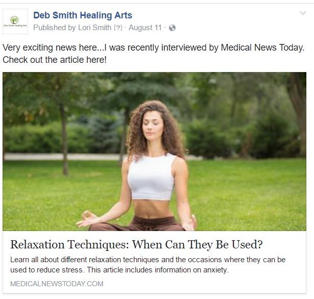 deb smith healing arts social media sample 2