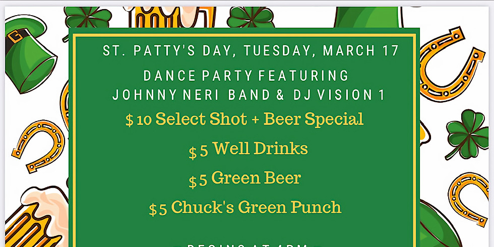 St. Patrick's Day Night Party with Johnny Neri Band AND DJ Vision 1