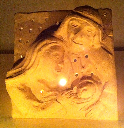 Nativity Candle Holy Family