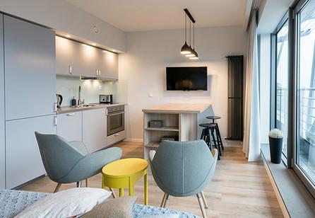 Projekt mini apartamentu pod wynajem Exc