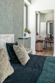 Projekt sypialni z garderobą i łazienką [Wrocław]